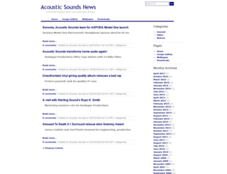 news.acousticsounds.com screenshot