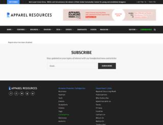 news.apparelresources.com screenshot