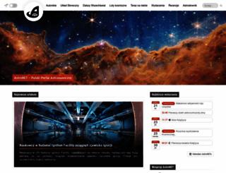 news.astronet.pl screenshot