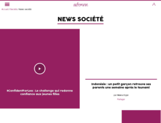 news.aufeminin.com screenshot
