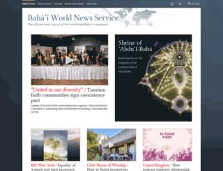 news.bahai.org screenshot