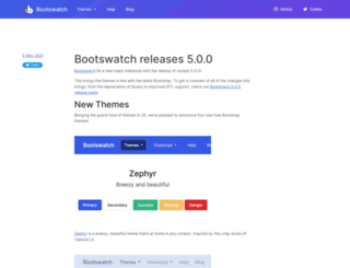 news.bootswatch.com screenshot