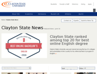news.clayton.edu screenshot