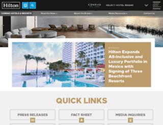 news.conradhotels.com screenshot