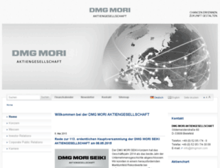 news.dmgmori.com screenshot