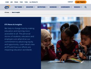 news.ets.org screenshot