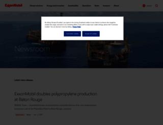 news.exxonmobil.com screenshot