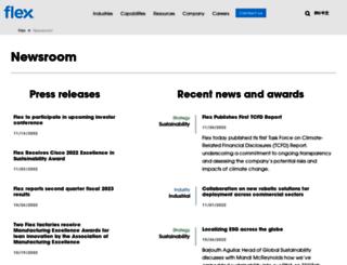 news.flextronics.com screenshot
