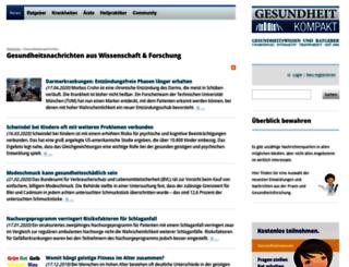 news.gesundheitkompakt.de screenshot
