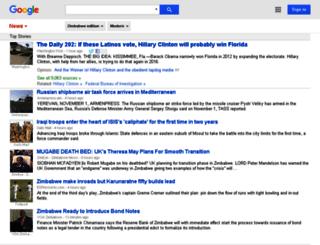 news.google.co.zw screenshot