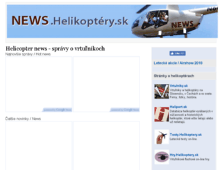 news.helikoptery.sk screenshot