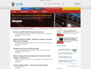 news.icm.ac.uk screenshot