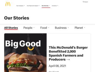 news.mcdonalds.com screenshot