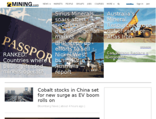 news.mining.com screenshot