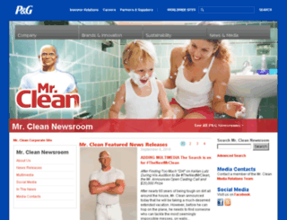 news.mrclean.com screenshot