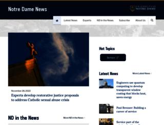 news.nd.edu screenshot