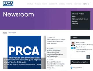 news.prca.org.uk screenshot