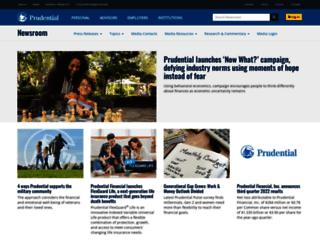 news.prudential.com screenshot