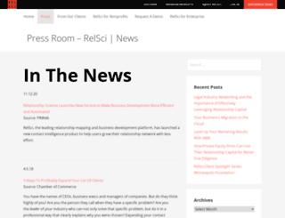 news.relsci.com screenshot
