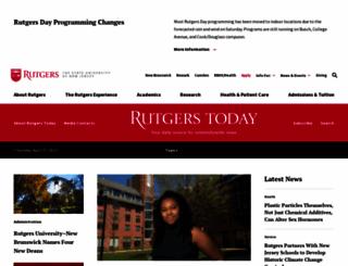 news.rutgers.edu screenshot