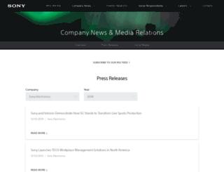 news.sel.sony.com screenshot