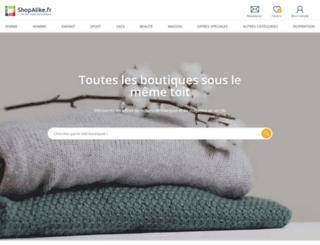news.shopalike.fr screenshot