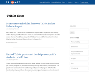 news.trimet.org screenshot