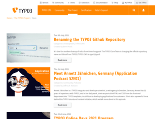 news.typo3.org screenshot