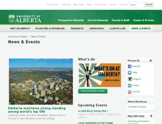 news.ualberta.ca screenshot
