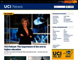 news.uci.edu screenshot