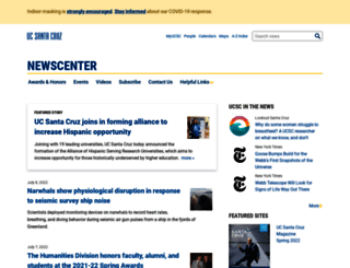 news.ucsc.edu screenshot