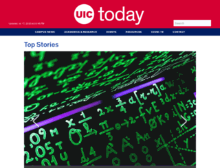 news.uic.edu screenshot