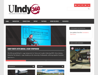news.uindy.edu screenshot