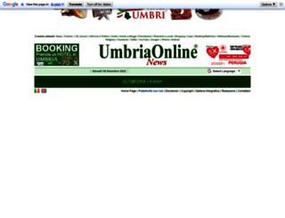 news.umbriaonline.com screenshot