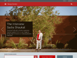 news.unlv.edu screenshot
