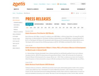 news.zoetis.com screenshot