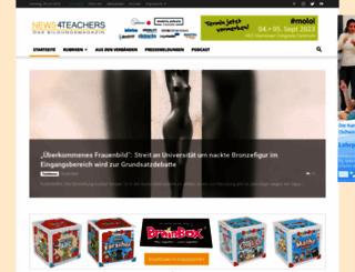 news4teachers.de screenshot