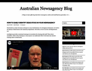 newsagencyblog.com.au screenshot