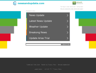 newsandupdate.com screenshot