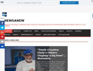 newsanew.com.ng screenshot