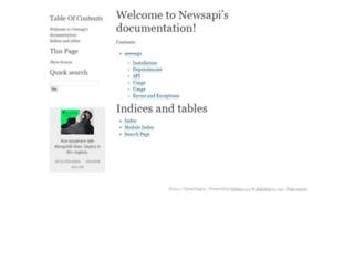 newsapi.readthedocs.io screenshot