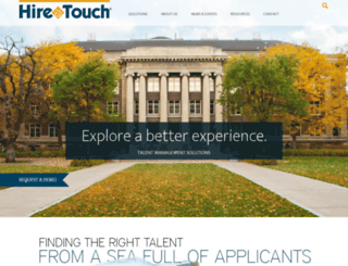 newschool.hiretouch.com screenshot