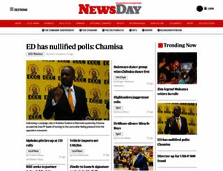 newsday.co.zw screenshot