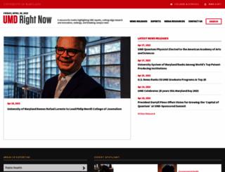 newsdesk.umd.edu screenshot