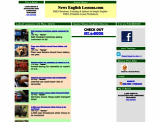 newsenglishlessons.com screenshot