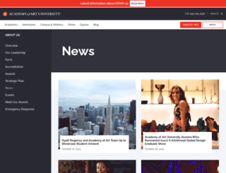 newsfeed.academyart.edu screenshot