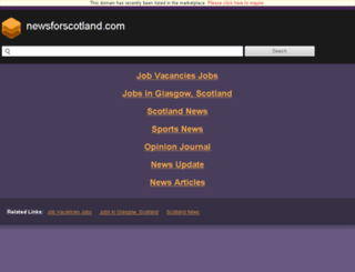 newsforscotland.com screenshot