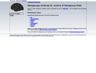 newsgroups.archived.at screenshot