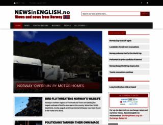 newsinenglish.no screenshot