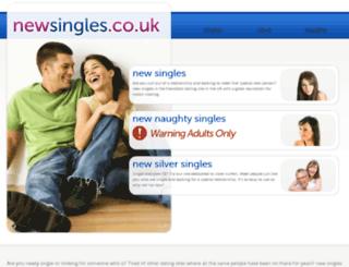 newsingles.co.uk screenshot